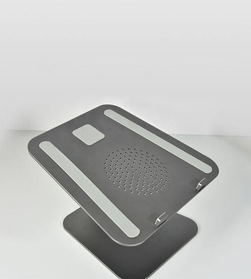 Coteetci hliníkový flexibilný podstavec pre notebooky (obojsmerný) CS5150-GY, sivý