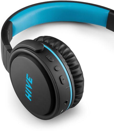 Niceboy HIVE XL 2021 brezžične slušalke, črno/modre