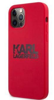 Karl Lagerfeld silikonska maskica Stack Pink Logo za iPhone 12 Pro Max 6.7 Red KLHCP12LSLKLRE