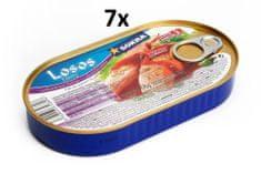 SOKRA Losos filety v pikantnom kréme 170 g, 7ks