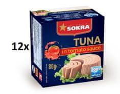 SOKRA Tuniak v paradajkovej omáčke 80 g, 12ks