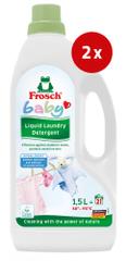 Frosch Baby tekoči detergent, 1,5 l, 2 kos