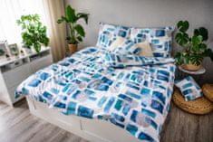 Jahu posteljnina Abstrakt, modra