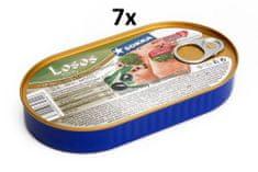 SOKRA Losos filety v olivovom oleji 170 g, 7ks