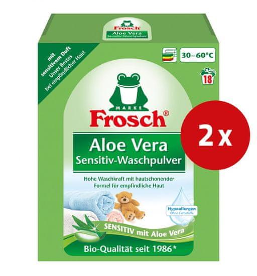 Frosch pralni prašek, aloe vera, 1,35 kg, 2 kos