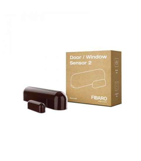 FIBARO Dverový alebo oknový senzor - FIBARO Door / Window Sensor 2 (FGDW-002-7 ZW5) - Tmavo hnedý