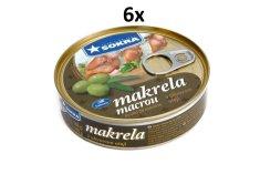 SOKRA Makrela v olivovom oleji 160 g, 6ks