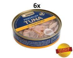 SOKRA Tuniak v rastlinnom oleji 160 g, 6ks