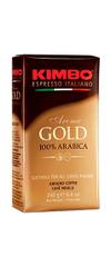 Kimbo Aroma Gold mleta kava, 100 % arabika, vakuum, 250 g