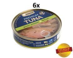 SOKRA Tuniak v oleji so zeleným korením a citrónom 160 g, 6ks