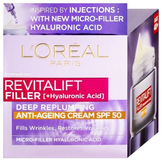 Loreal Paris Denný krém proti starnutiu pleti SPF 50 Revita lift Filler ( Anti-Age ing Cream) 50 ml