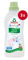 Frosch Baby mehčalec, 750 ml, 3 kos