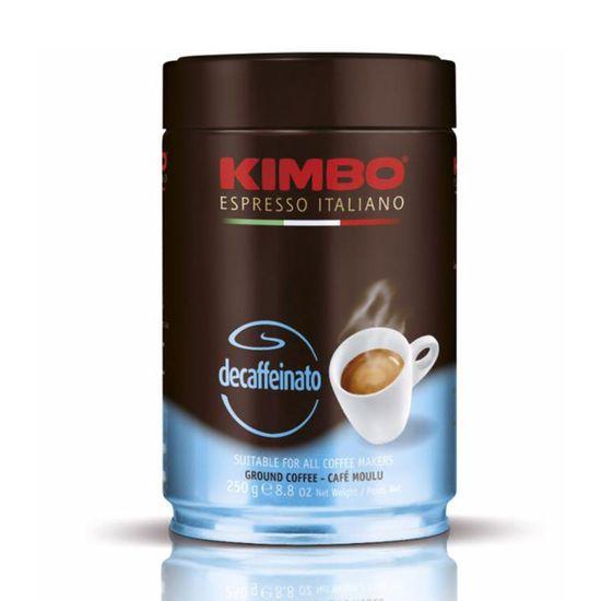 Kimbo brezkofeinska mleta kava, pločevinka, 250 g