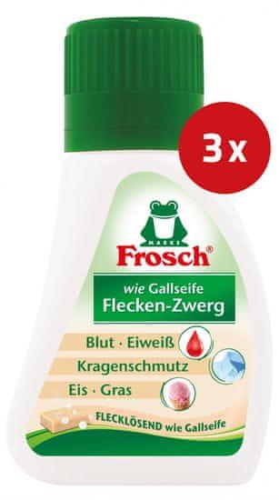 Frosch sredstvo za uklanjanje mrlja na biljnoj bazi, 75 ml, 3 kom