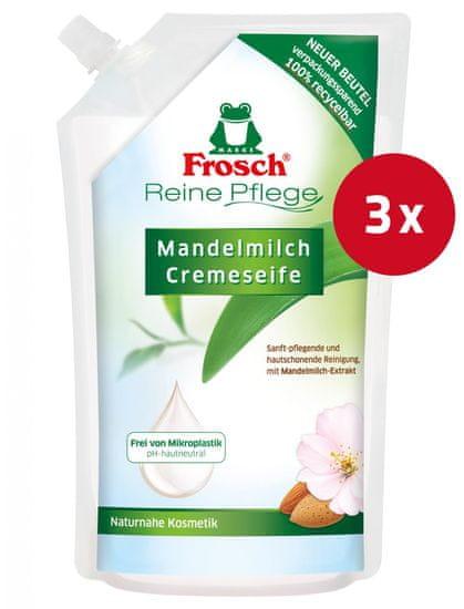 Frosch sapun za ruke, bademovo mlijeko, punjenje, 500 ml, 3 kom