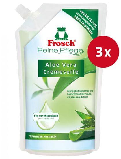 Frosch sapun za ruke, aloe vera, punjenje, 500 ml, 3 kom