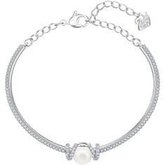 Swarovski Bleščeča trdna zapestnica s kristali in biseri ORIGINALLY 5461083