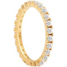 PDPAOLA Třpytivý pozlacený prsten se zirkony NAOMI Gold AN01-144 (Obvod 50 mm) stříbro 925/1000