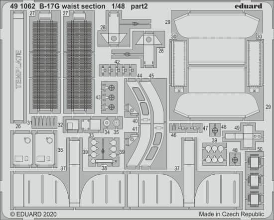EDUARD B-17G waist section lepty 1/48