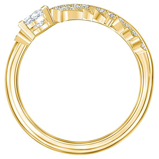 Swarovski Pozlacený prsten s krystaly Nice 55157