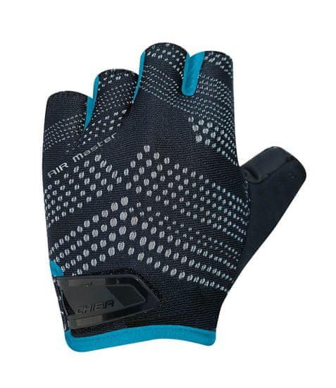 CHIBA Cyklistické rukavice pro dospělé Air Master černé/modré