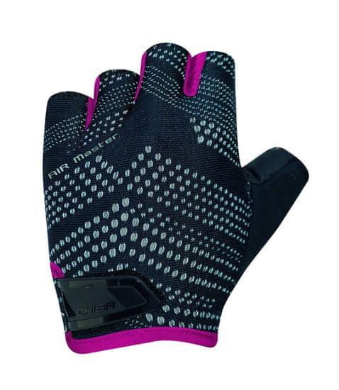 CHIBA Cyklistické rukavice pro dospělé Air Master čierne/růžové