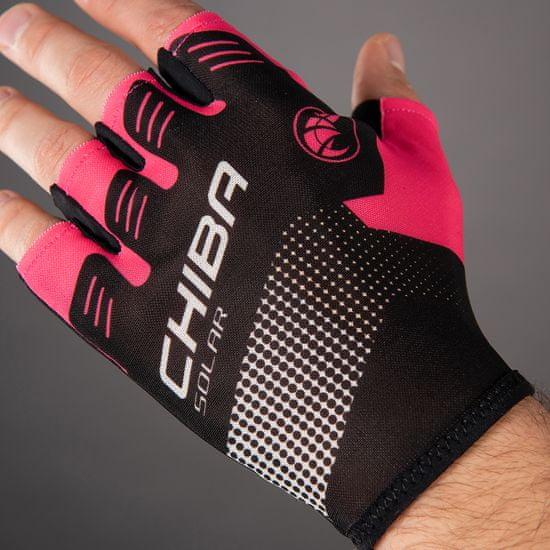 CHIBA Cyklistické rukavice pro dospělé Solar magenta růžové