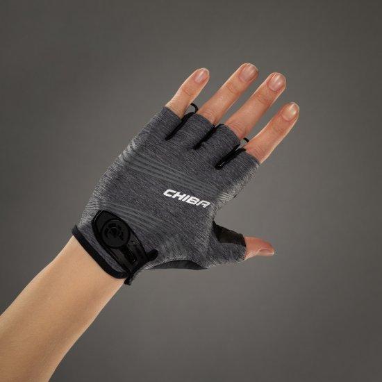 CHIBA Cyklistické rukavice pro ženy Lady SuperLight tmavě šedé