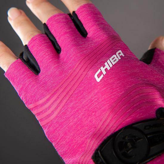 CHIBA Cyklistické rukavice pro ženy Lady SuperLight magenta růžové