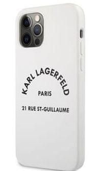 Karl Lagerfeld Rue St Guillaume Silikonový Kryt pro iPhone 12/12 Pro 6.1 White KLHCP12MSLSGWH