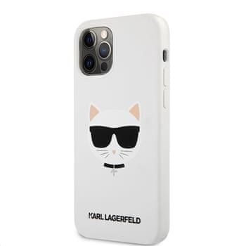 Karl Lagerfeld Choupette Head silikonowy pokrowiec dla iPhone 12 Pro Max 6,7 KLHCP12LSLCHWH, biały
