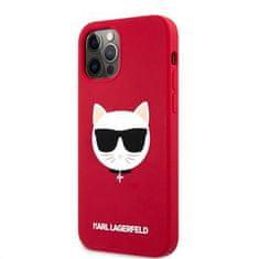Karl Lagerfeld Choupette Head silikonowy pokrowiec dla iPhone 12/12 Pro 6,1 KLHCP12MSLCHRE, czerwony