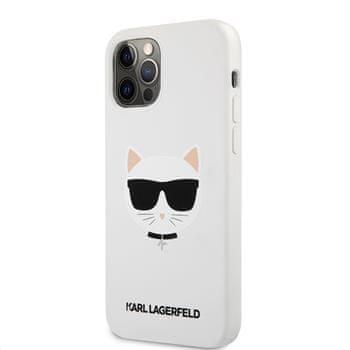 Karl Lagerfeld Choupette Head silikonový kryt pro iPhone 12/12 Pro 6,1 KLHCP12MSLCHWH, bílý