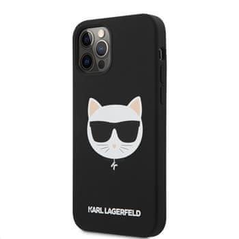 Karl Lagerfeld Choupette Head silikonový kryt pro iPhone 12/12 Pro 6,1 KLHCP12MSLCHBK, černý