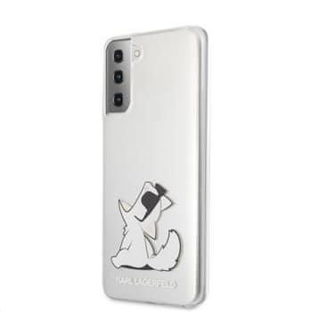 Karl Lagerfeld PC/TPU Choupette Eats kryt pro Samsung Galaxy S21+ KLHCS21MCFNRC, transparentní