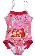 Disney Lány egyrészes fürdőruha Peppa Pig PP13455, 98 - 104, rózsaszín