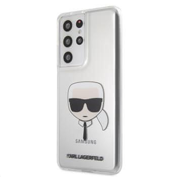 Karl Lagerfeld maskica PC/TPU Head za Samsung Galaxy S21 Ultra KLHCS21LKTR, prozirna