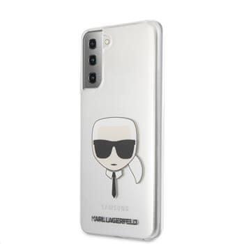 Karl Lagerfeld PC/TPU Head kryt pro Samsung Galaxy S21+ KLHCS21MKTR, transparentní