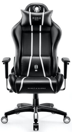 Diablo Chairs X-One 2.0, XL, černá/bílá (5902560336467)