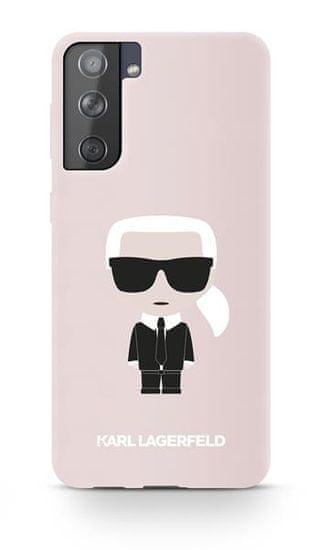 Karl Lagerfeld Iconic Full Body silikonový kryt pro Samsung Galaxy S21+ KLHCS21MSLFKPI, růžový