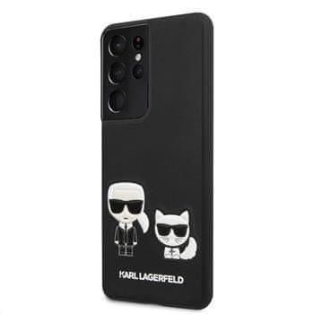Karl Lagerfeld PU Karl &Choupette kryt pro Samsung Galaxy S21+ KLHCS21MPCUSKCBK, černý