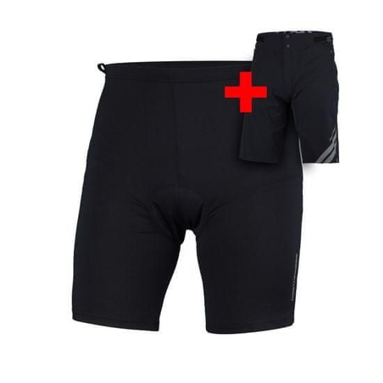Northfinder Resmunsy3 moške kolesarske hlače, črne