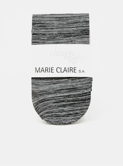 Marie Claire šedé žíhané punčochové kalhoty