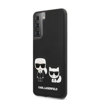 Karl Lagerfeld PU Karl &Choupette kryt pro Samsung Galaxy S21 KLHCS21SPCUSKCBK, černý