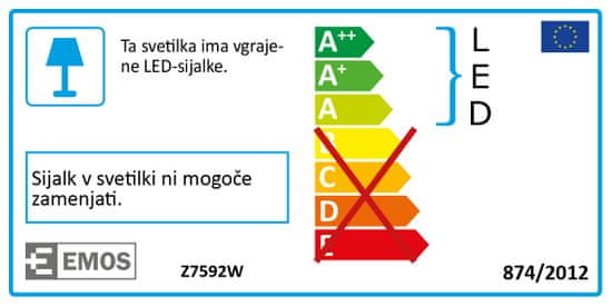 Emos LED stolní lampička D08 bílá, USB