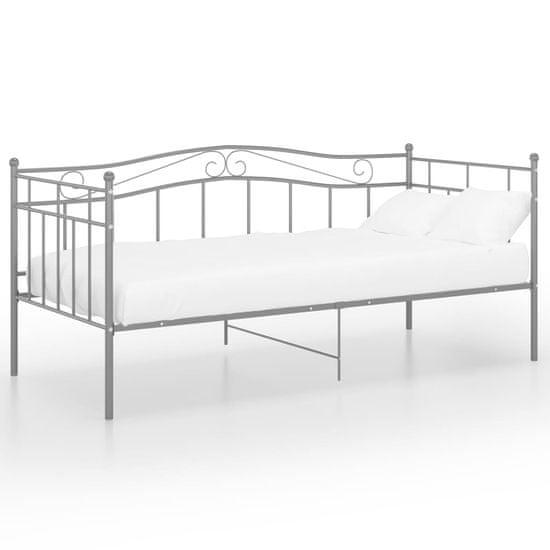 shumee Rama sofy, szara, metalowa, 90x200 cm