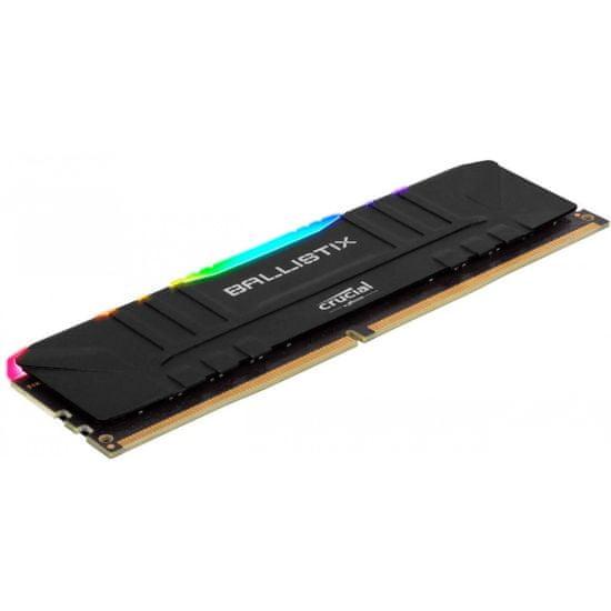 Crucial Ballistix Black RGB memorija (RAM), DDR4 16 GB (2x8GB), 3600 MHz, CL16 ( BL2K8G36C16U4BL)
