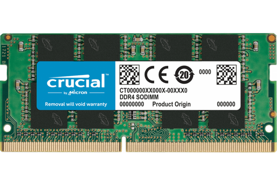 Crucial memorija (RAM), 32 GB, DDR4, 3200 MHz, CL22, SODIMM (CT32G4SFD832A)