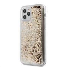 Guess Liquid Glitter Charms zadný kryt pre iPhone 12 Pro Max 6,7 GUHCP12LGLHFLGO, zlatý