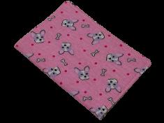 Šišipu Obal na očkovací průkaz psa nebo kočky Růžový buldog